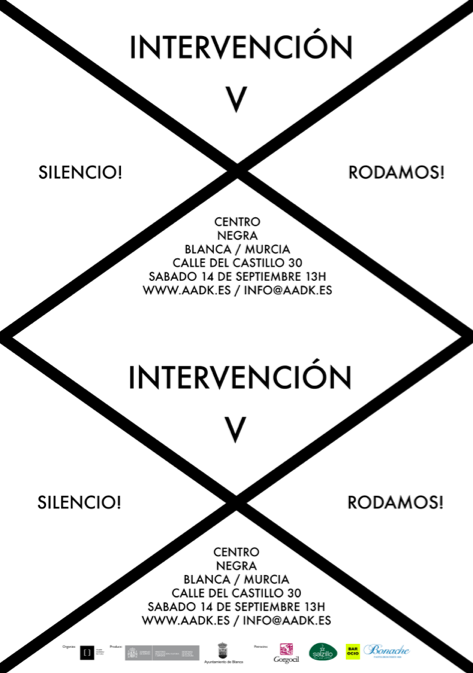 poster intervencion V low