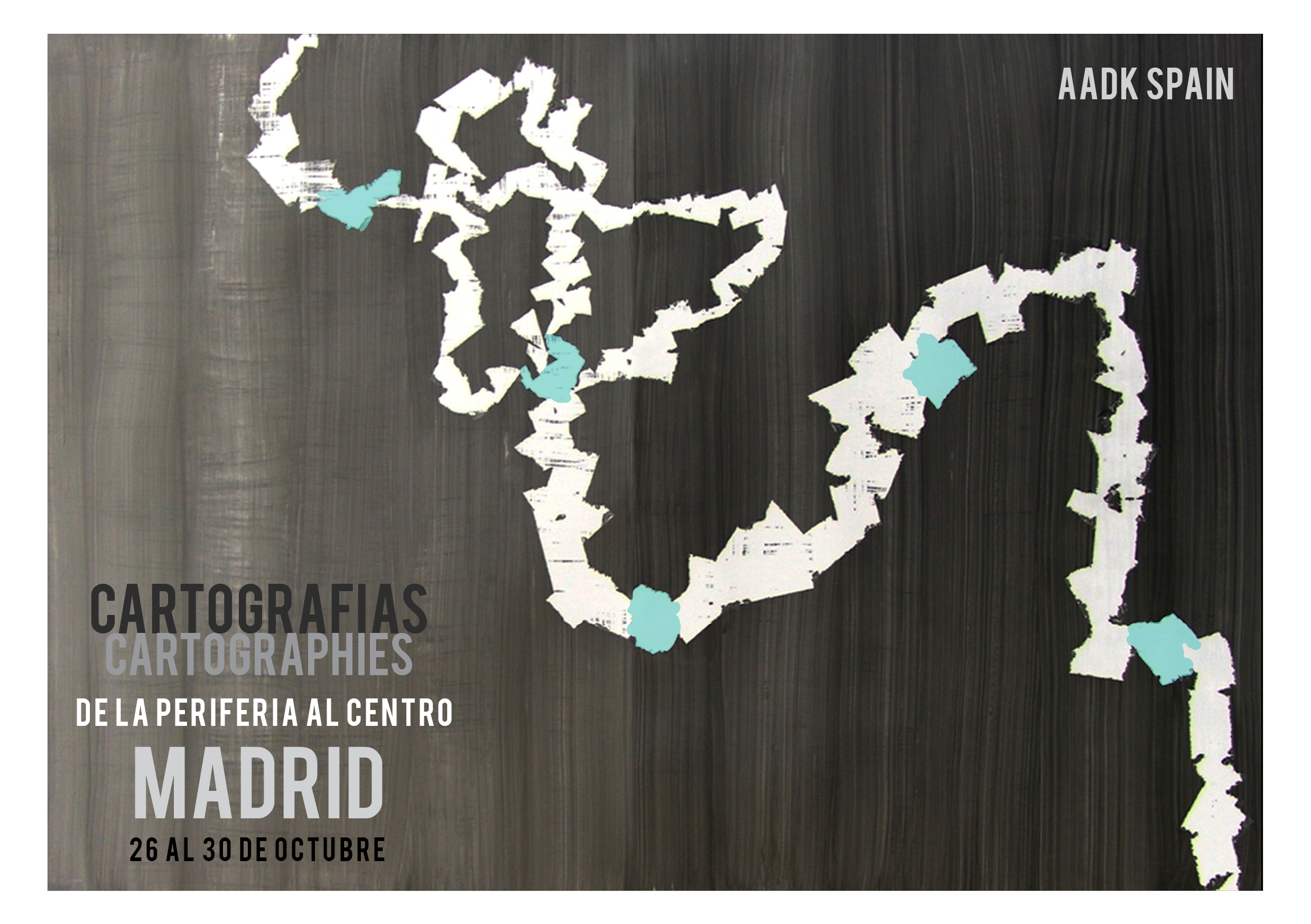 Cartographies Madrid front page postcard