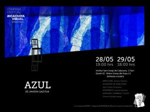 Azul es el nuevo montaje de la compañía gestual Alcachofa Visual, una apuesta escénica por construir un lenguaje visual de las emociones.
