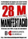 28 de març, a les 17.00 a la plaça de La Barceloneta, els veïns i veïnes tornem a sortir al carrer. La Barceloneta és un barri popular i no un lloc per especular