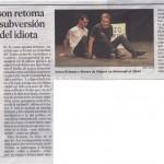 """ARTÍCULO """"HOMENATGE A L'IDIOTA"""" DE SOREN EVINSON. (La Vanguardia. 15/03/2014)"""