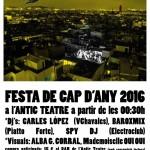 """FIESTA DE """"CAP D'ANY 2016"""" EN ANTIC TEATRE"""