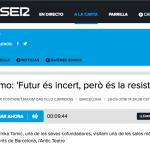 """""""La Semo diu: """"Futur és incert, però és la resistènzzia!"""""""