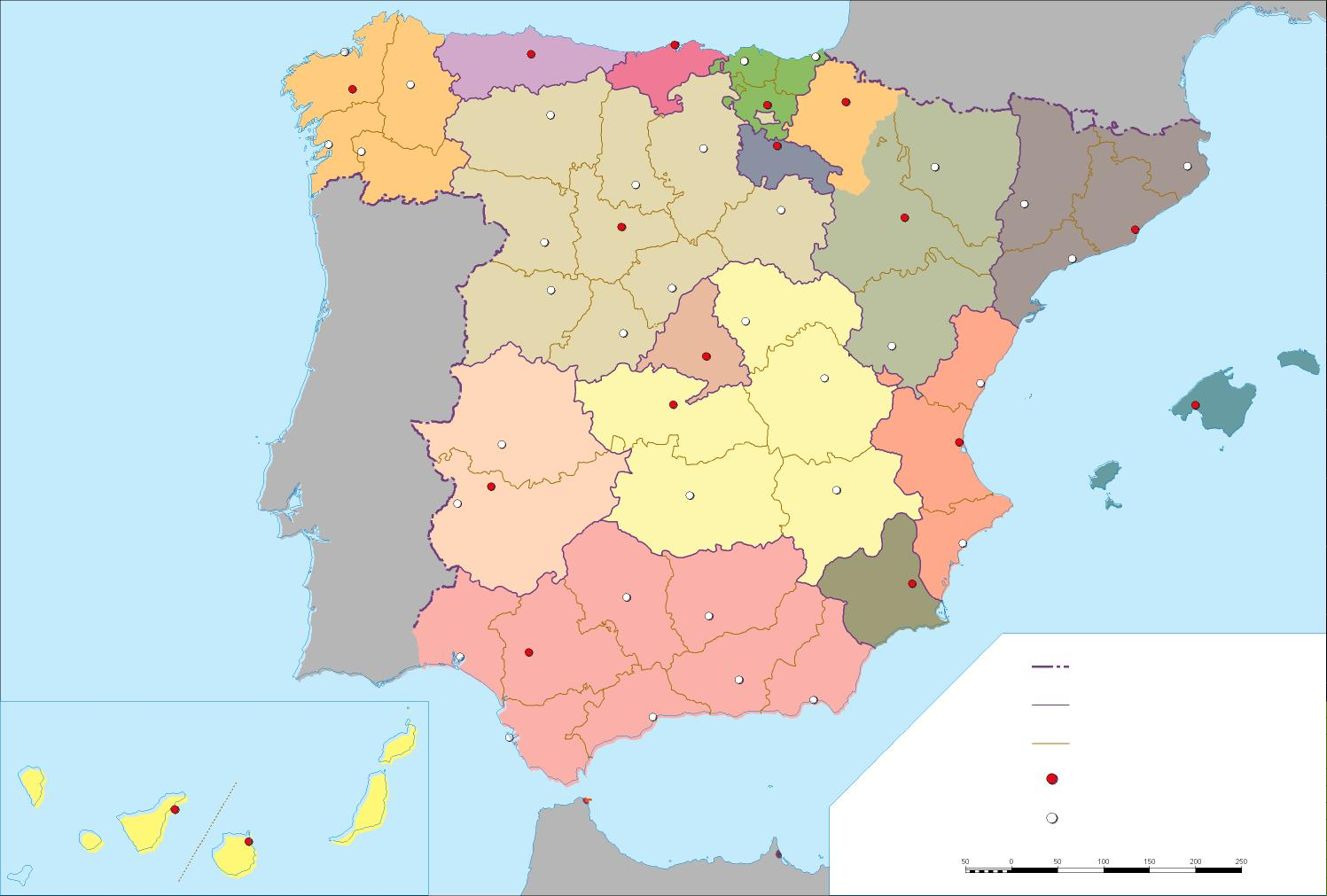 Www Mapa De Espana.Mapa Politico Mudo De Espana Anto Rodriguez