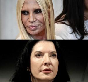 Donatella Versace (arriba) - Marina Abramovic (abajo)