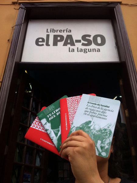 Libros de Teatron.Tinta en la librería El PA-SO de La Laguna