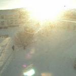Así ha amanecido en un colegio de Akureyri (Islandia)