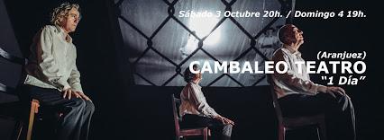 """Sábado 3 Octubre 20h. 4 Octubre 19h. TEATRO CAMBALEO TEATRO """"1día"""""""