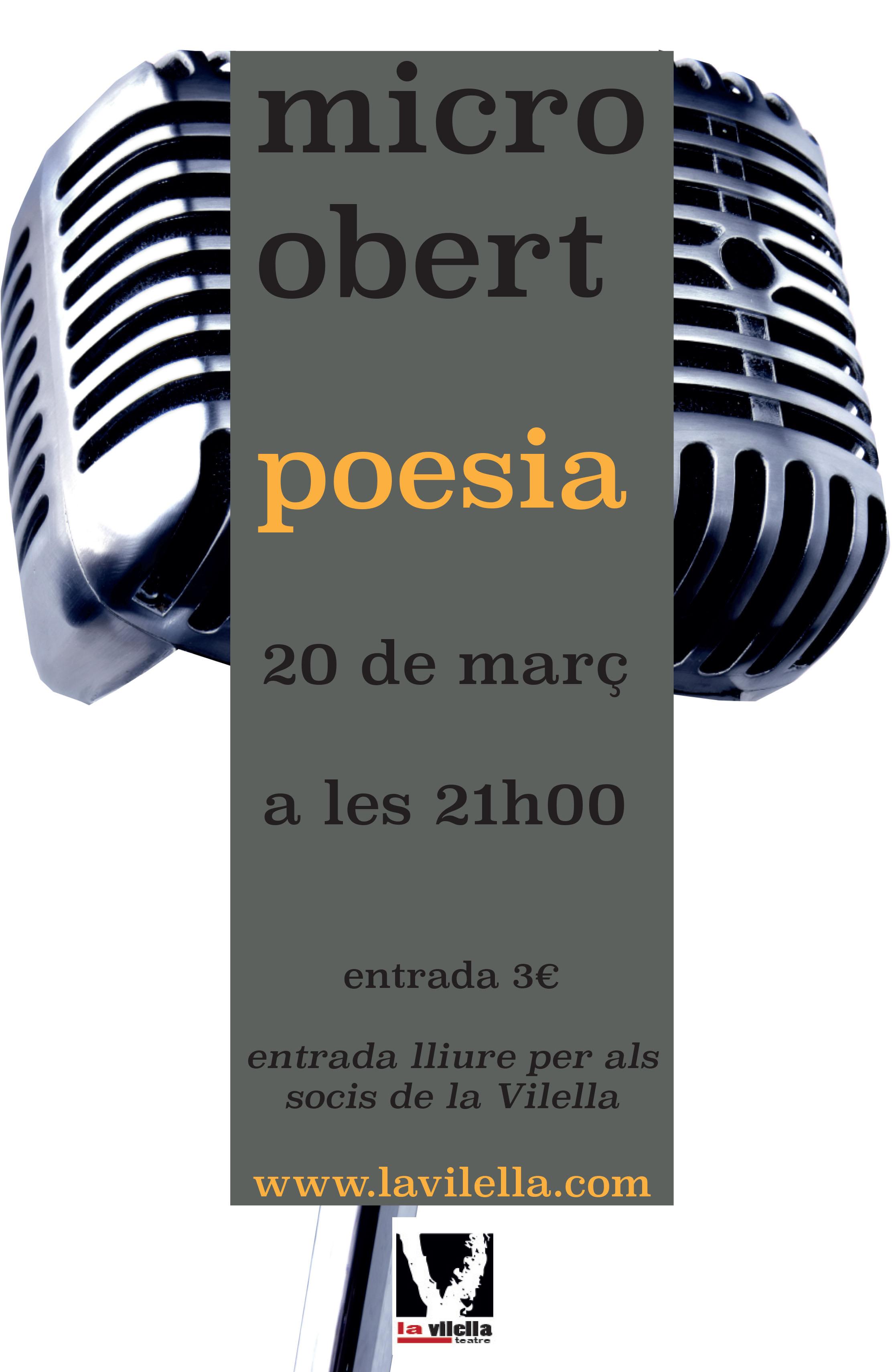 micro obert de poesia a la Vilella