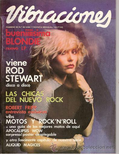 Revista Vibraciones con Blondie en portada